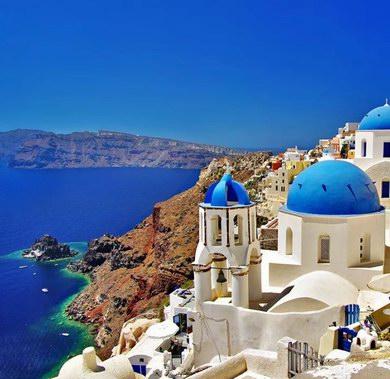 在蜜月天堂希腊 邂逅爱琴海双岛